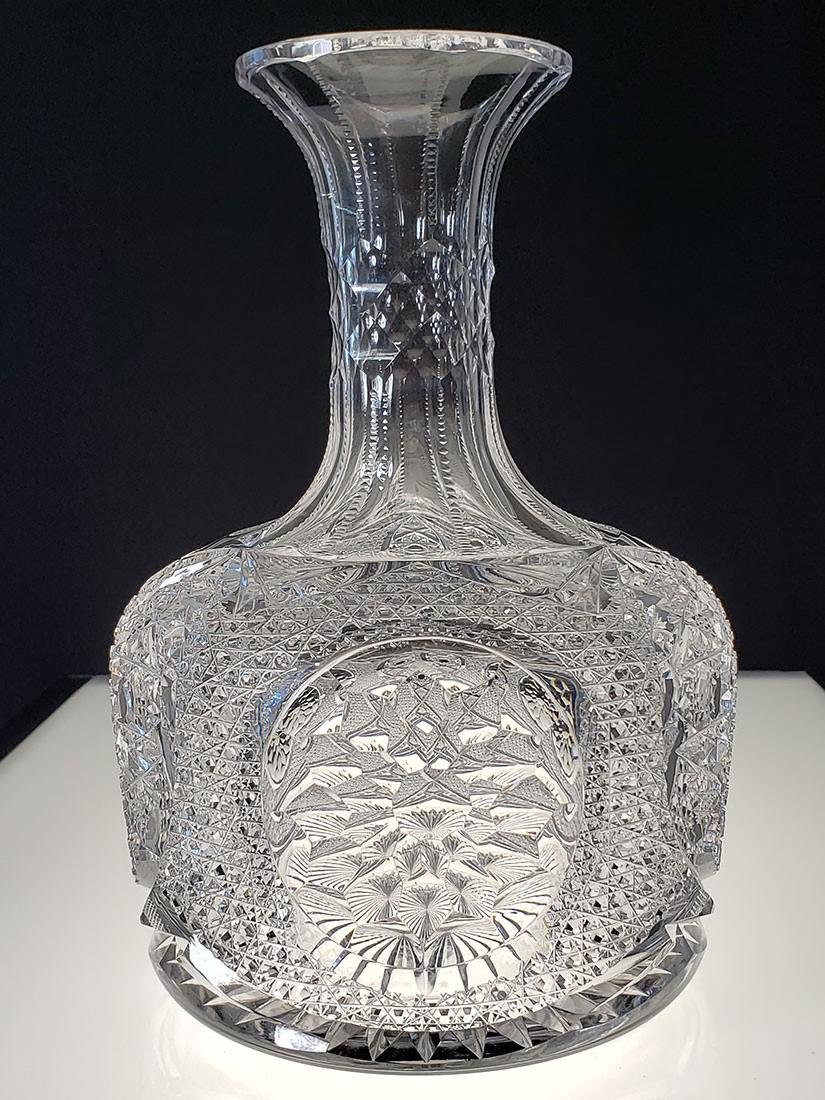 American Brilliant Period cut glass carafe gorgeous