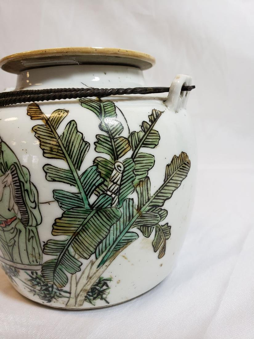Antique Chinese Famille Rose teapot with marks 1900 - 2