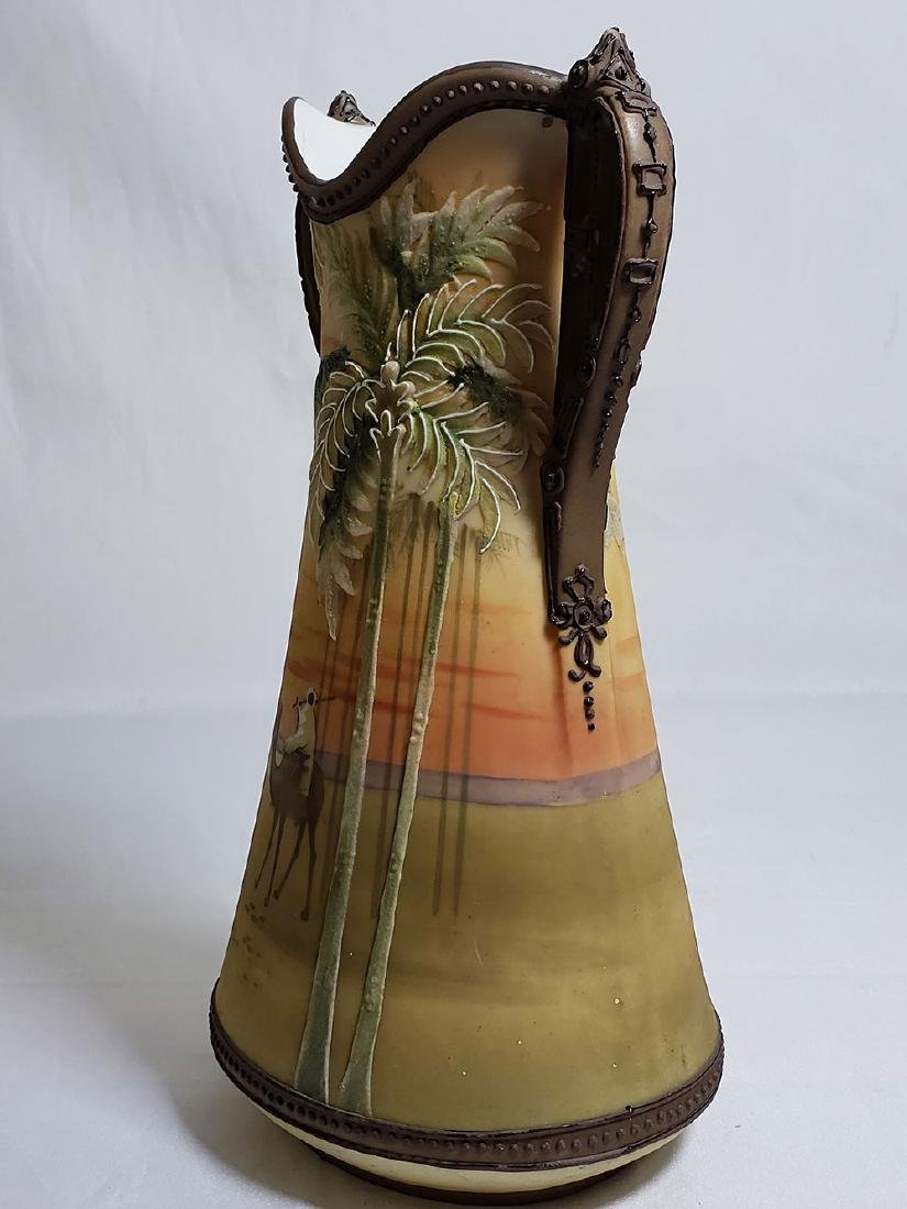 Antique hand painted Nippon orientalist vase bowl - 10