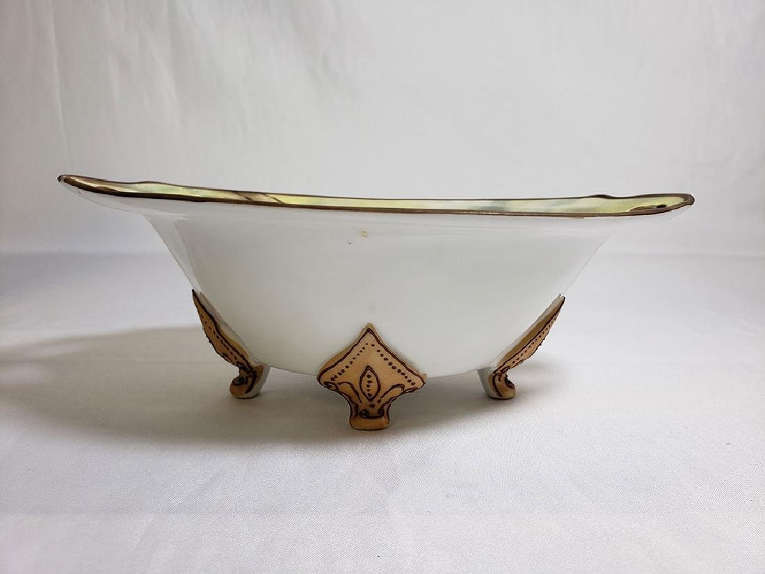 Antique hand painted Nippon orientalist vase bowl - 2