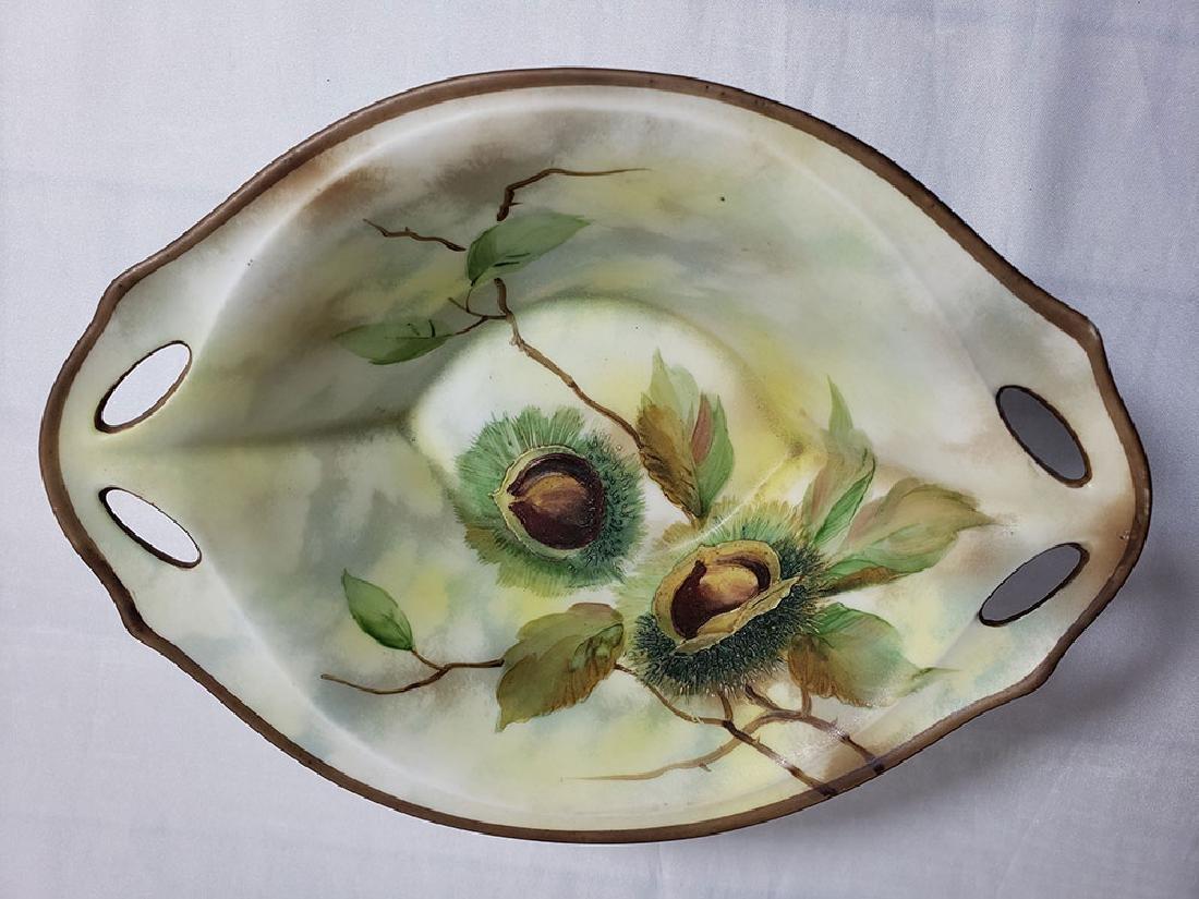 Antique hand painted Nippon orientalist vase bowl - 4