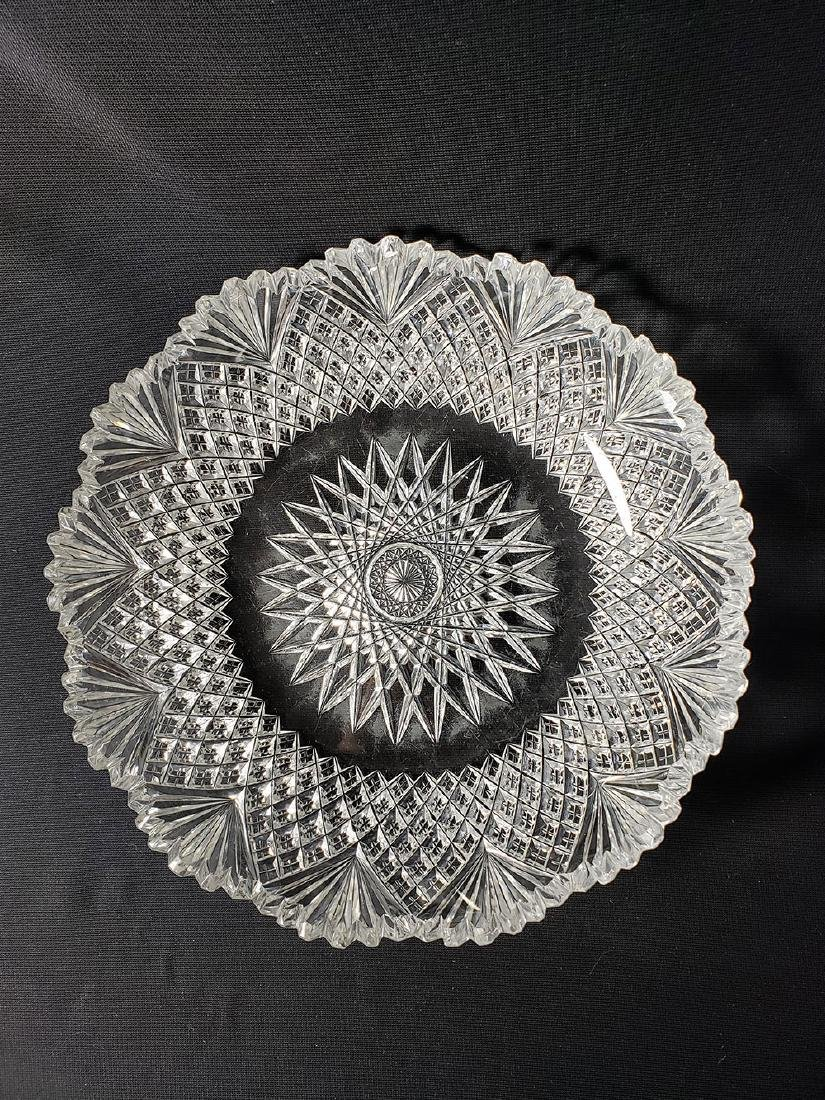 Antique brilliant cut glass bowl.