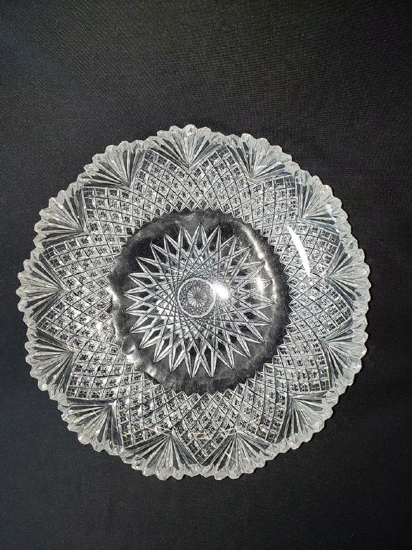 Antique brilliant cut glass bowl. - 2