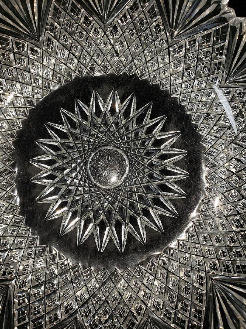 Antique brilliant cut glass bowl. - 3