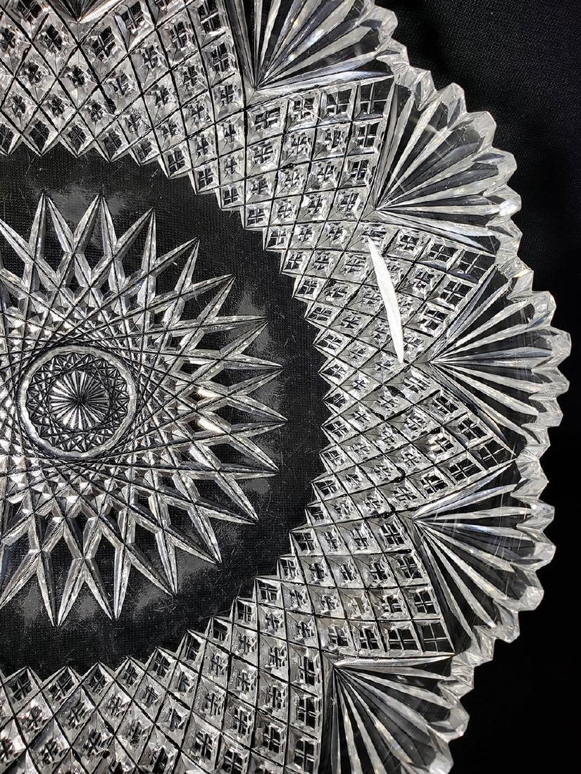 Antique brilliant cut glass bowl. - 5