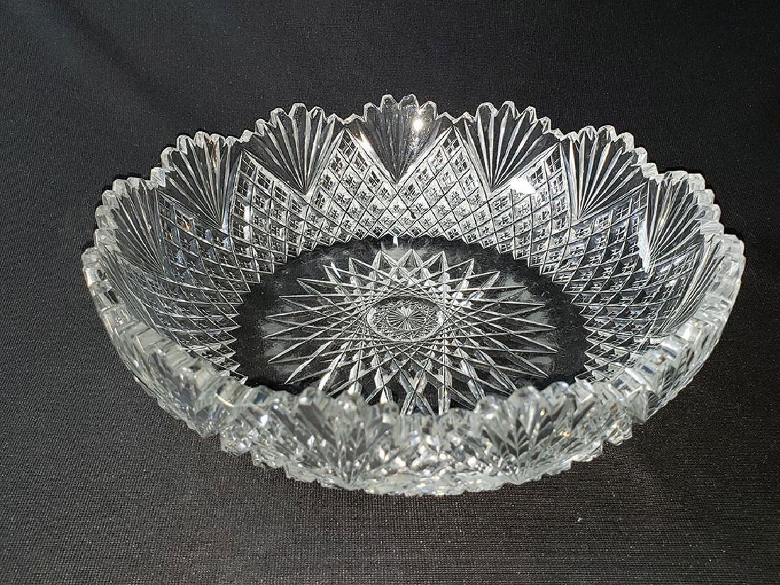 Antique brilliant cut glass bowl. - 9
