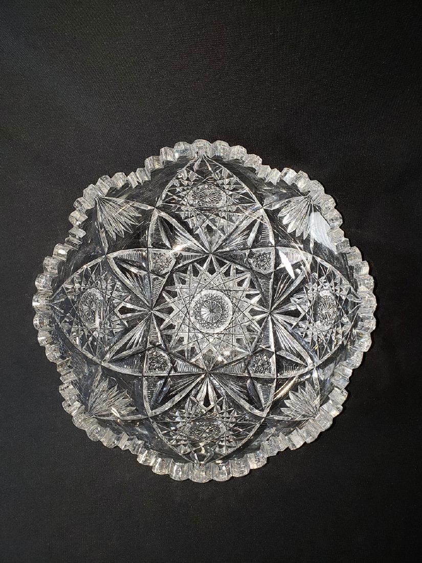 Antique American  brilliant period cut glass bowl.