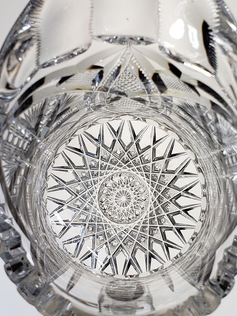 America Brilliant Period heavy cut glass pitcher - 10