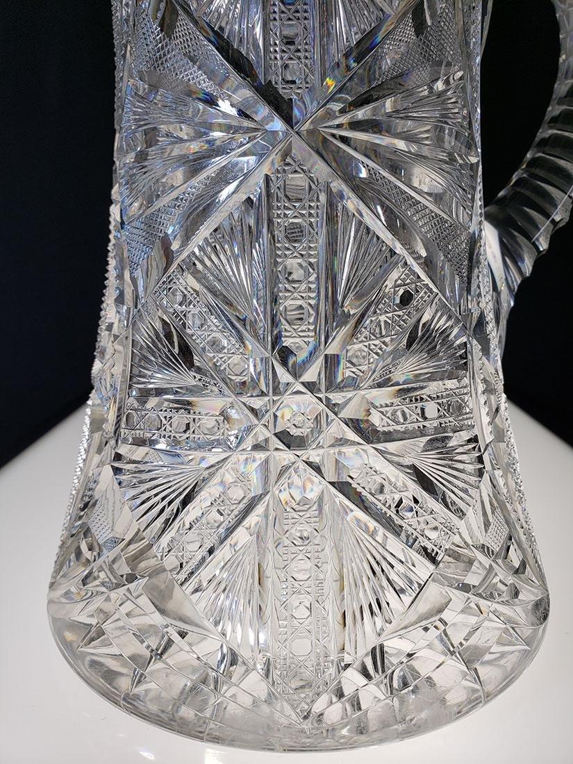 America Brilliant Period heavy cut glass pitcher - 2