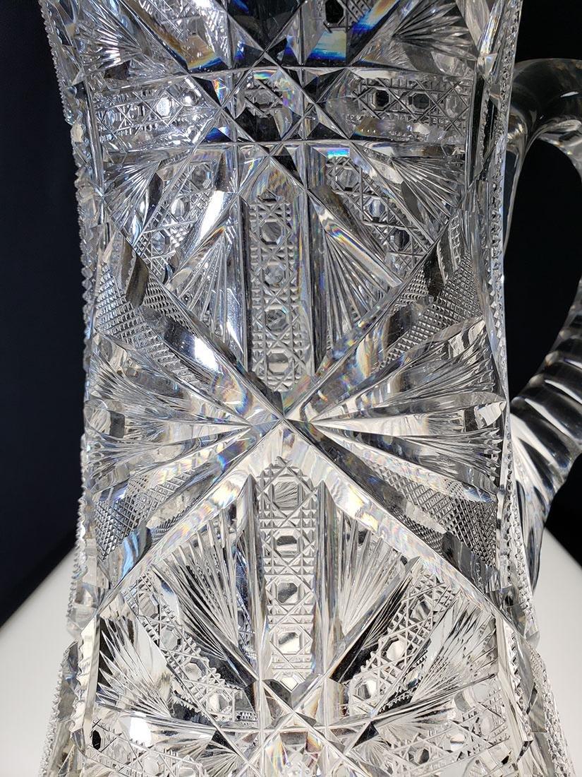 America Brilliant Period heavy cut glass pitcher - 3