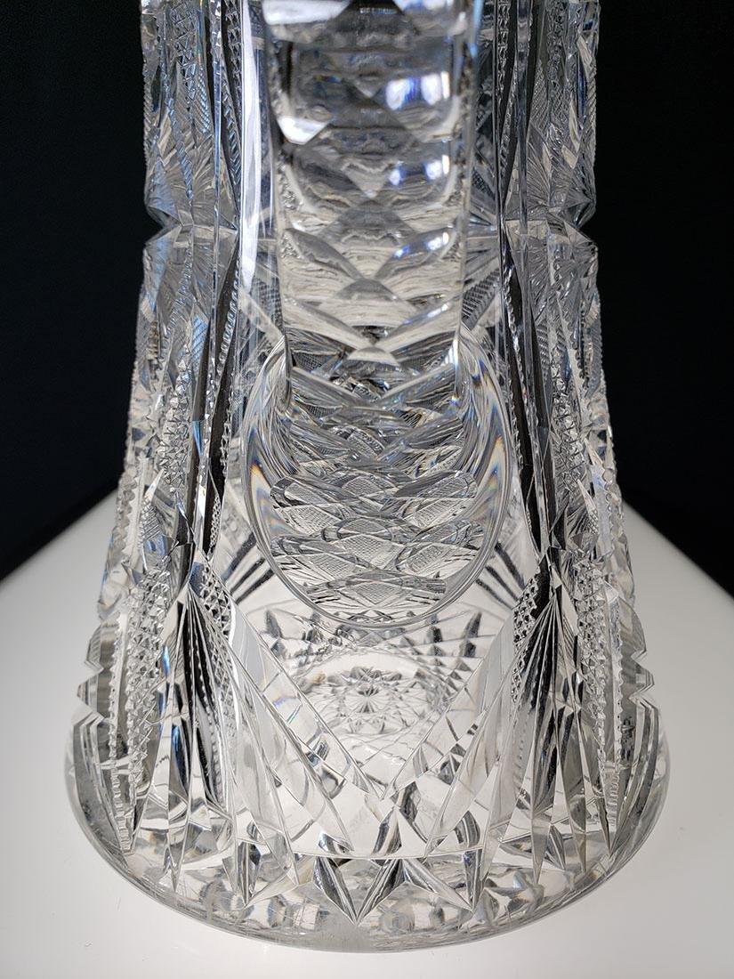 America Brilliant Period heavy cut glass pitcher - 6