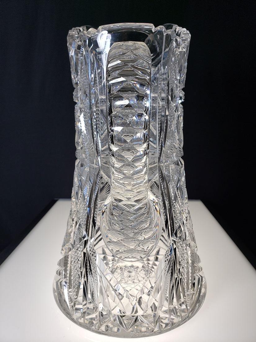 America Brilliant Period heavy cut glass pitcher - 7