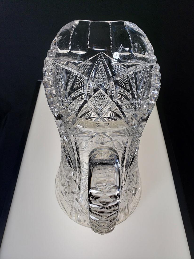 America Brilliant Period heavy cut glass pitcher - 8