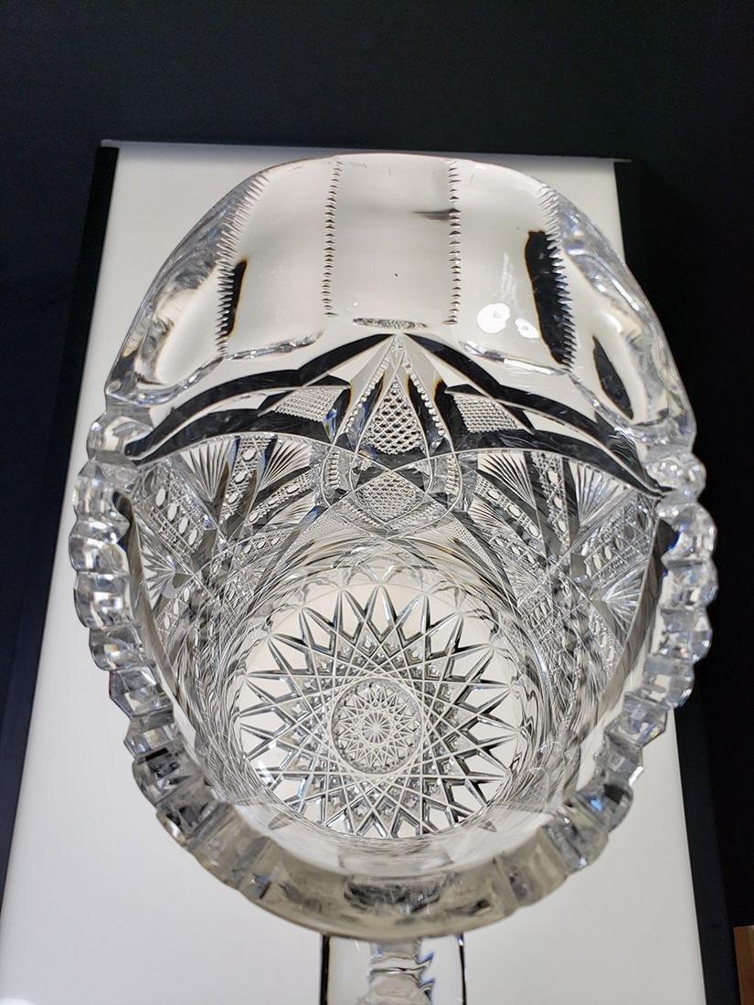 America Brilliant Period heavy cut glass pitcher - 9
