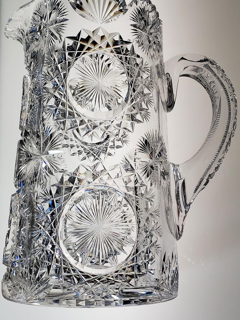 American Brilliant Period cut glass pitcher - 4