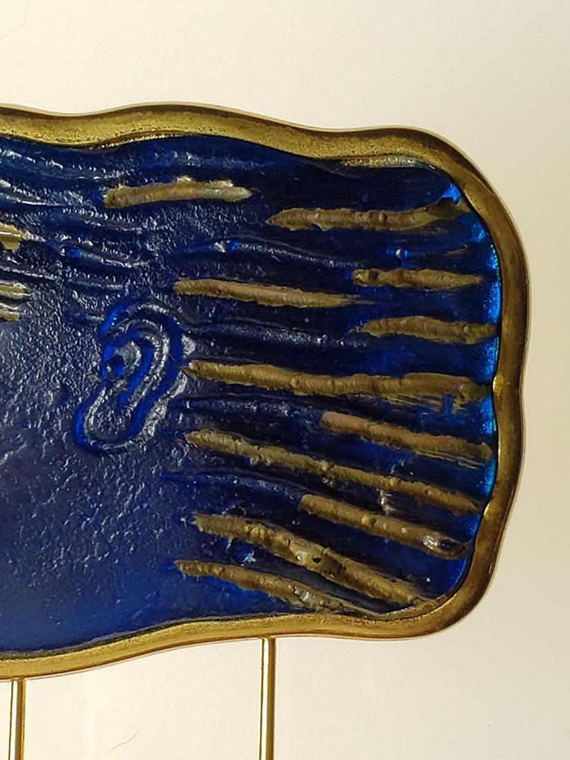 Signed Art Deco Daum Nancy art glass art deco brooch - 3