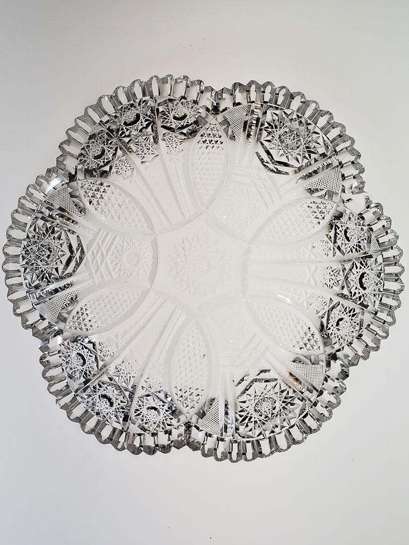 American brilliant period cut glass bowl. - 8