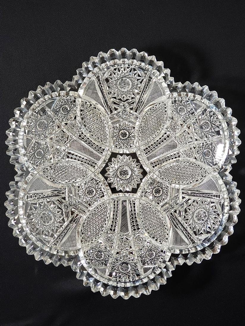 American brilliant period cut glass bowl. - 9