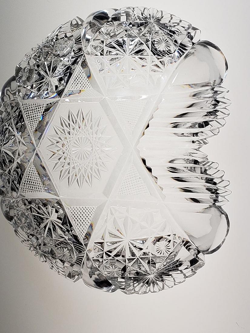 American Brilliant Period cut glass heart shape dish - 10