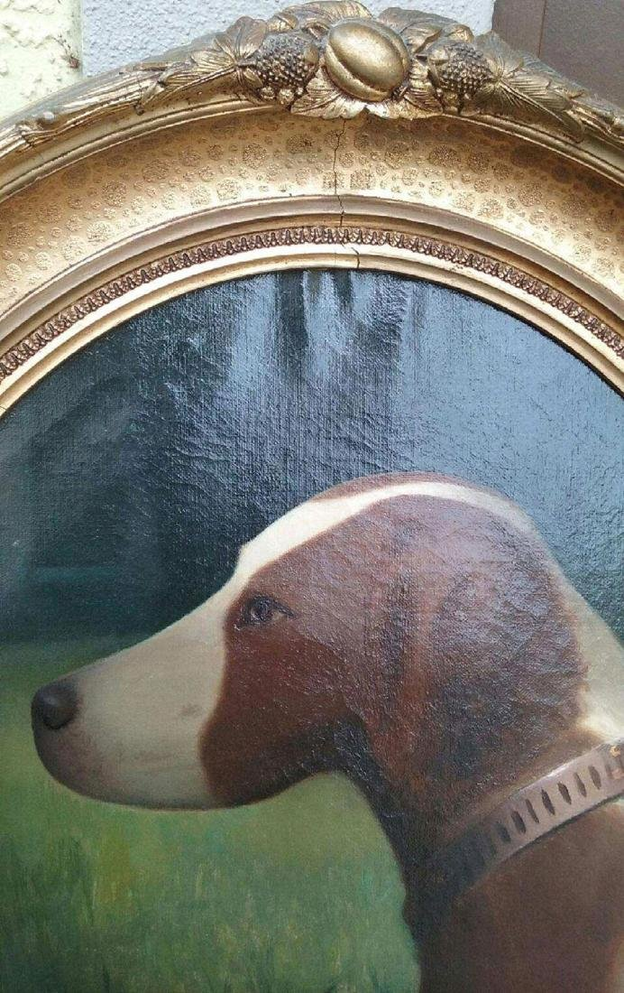 19th c portrait painting of a dog - 2