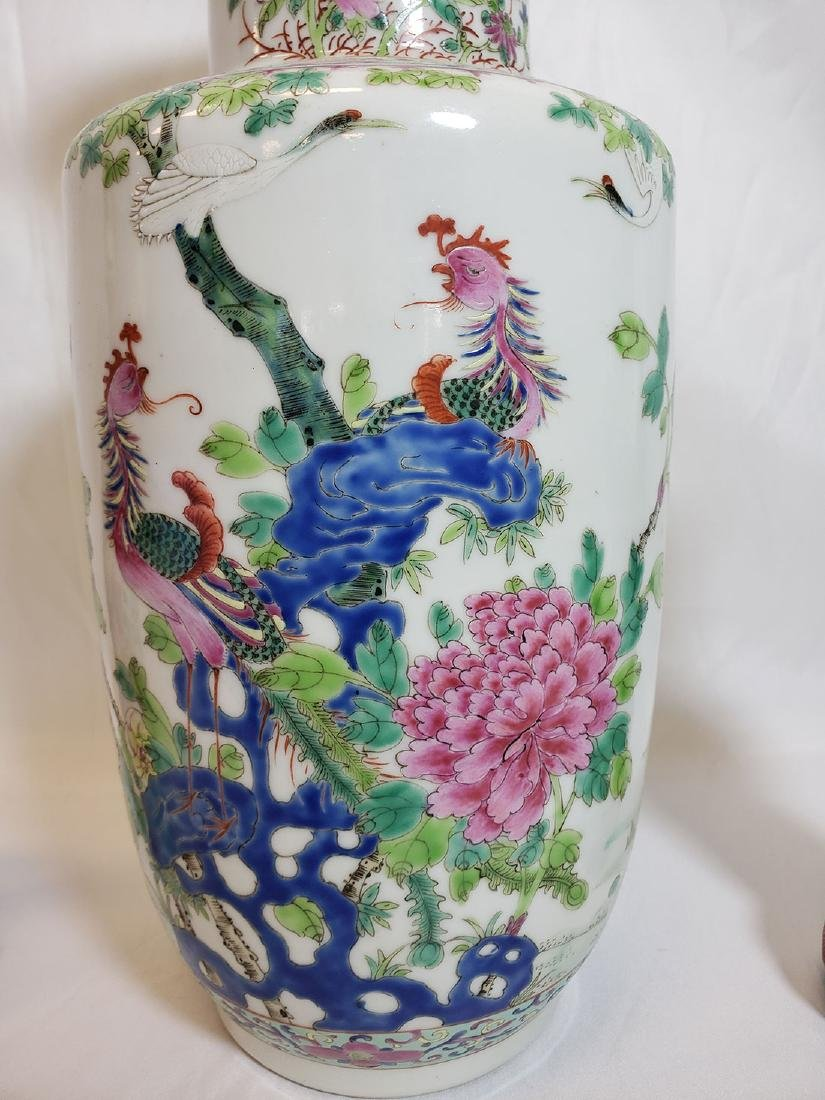 Lot of Chinese porcelain vase and export birds w/ Mark - 2