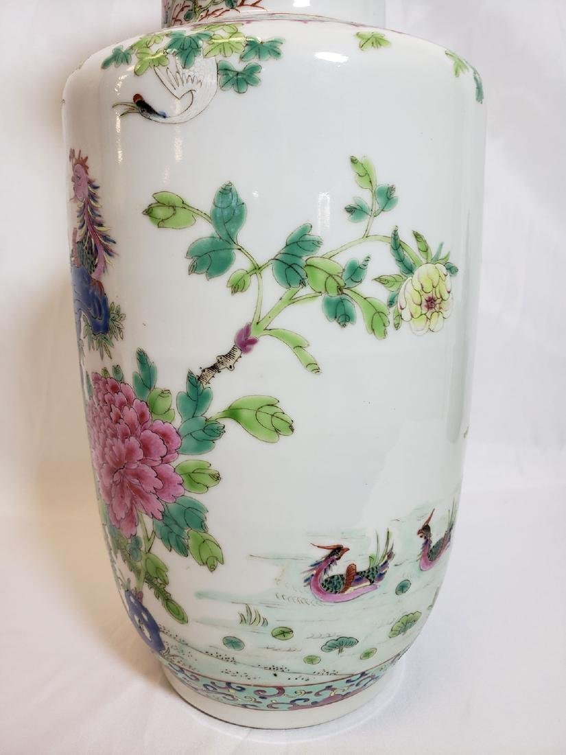 Lot of Chinese porcelain vase and export birds w/ Mark - 4