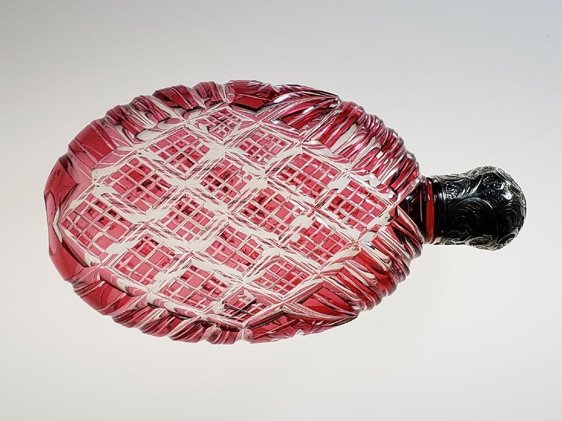 American Brilliant Period cut glass whiskey flask