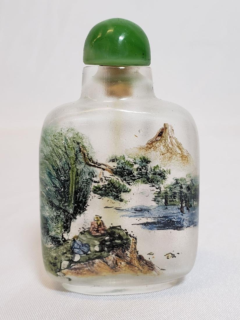 A finely painted Chinese Peking glass snuff bottle MARK