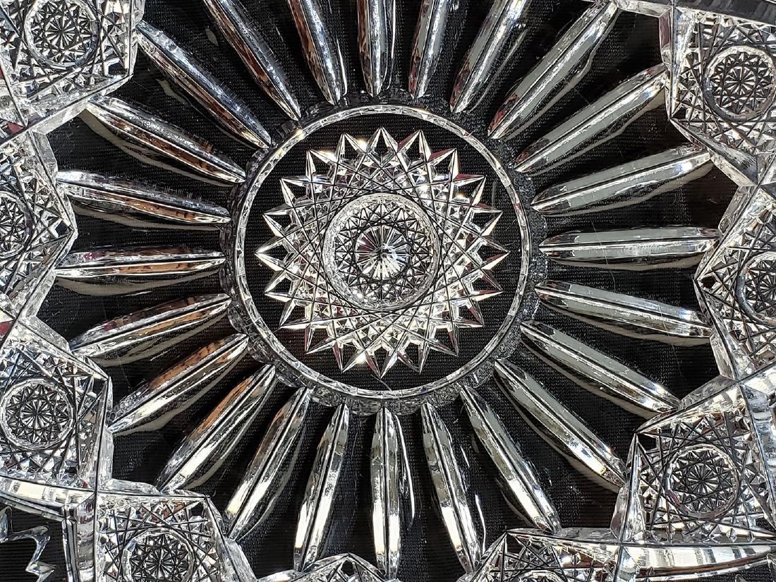 """American Brilliant Period cut glass plate """"Sinclaire"""" - 10"""