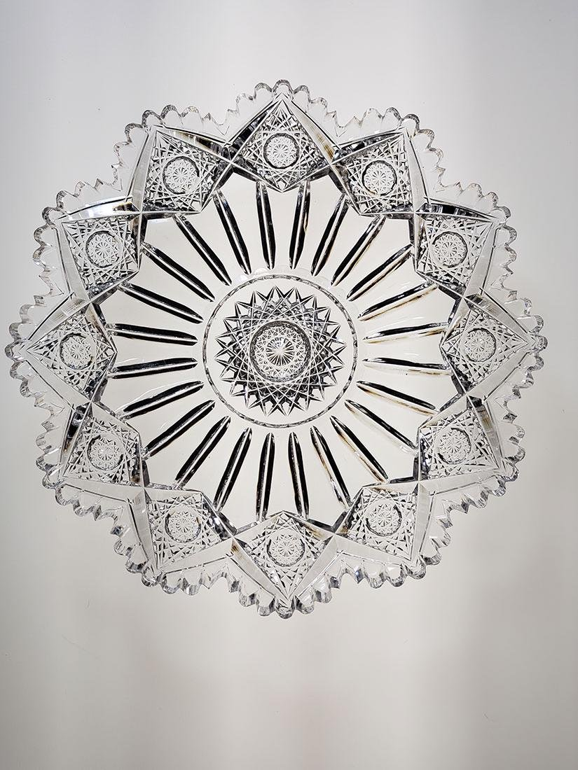 "American Brilliant Period cut glass plate ""Sinclaire"""