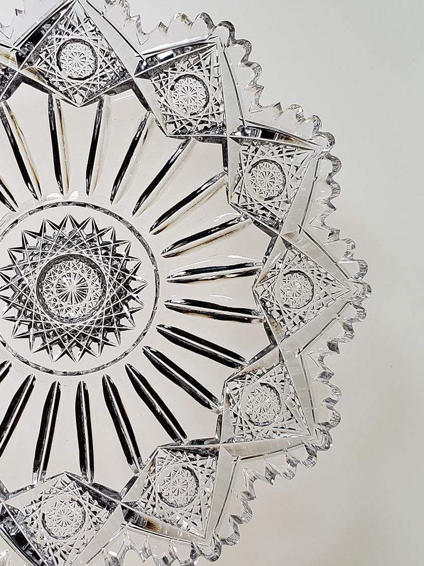 """American Brilliant Period cut glass plate """"Sinclaire"""" - 2"""