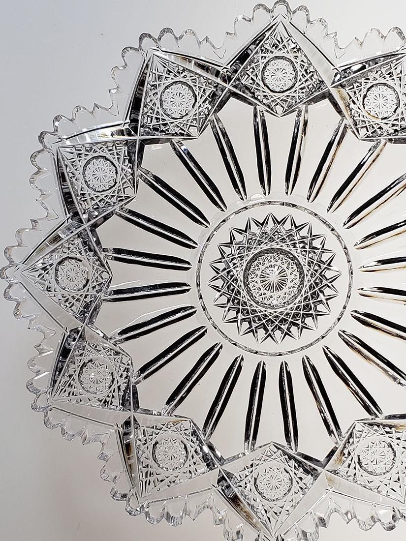 """American Brilliant Period cut glass plate """"Sinclaire"""" - 3"""