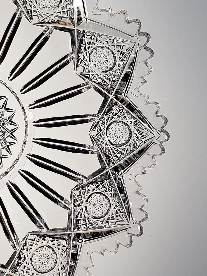 """American Brilliant Period cut glass plate """"Sinclaire"""" - 5"""