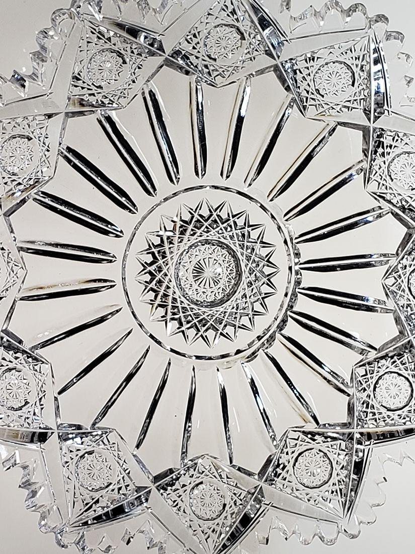 """American Brilliant Period cut glass plate """"Sinclaire"""" - 6"""