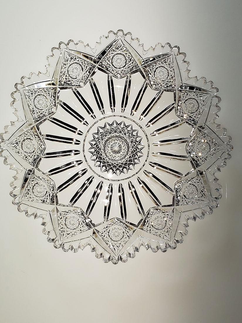 """American Brilliant Period cut glass plate """"Sinclaire"""" - 8"""