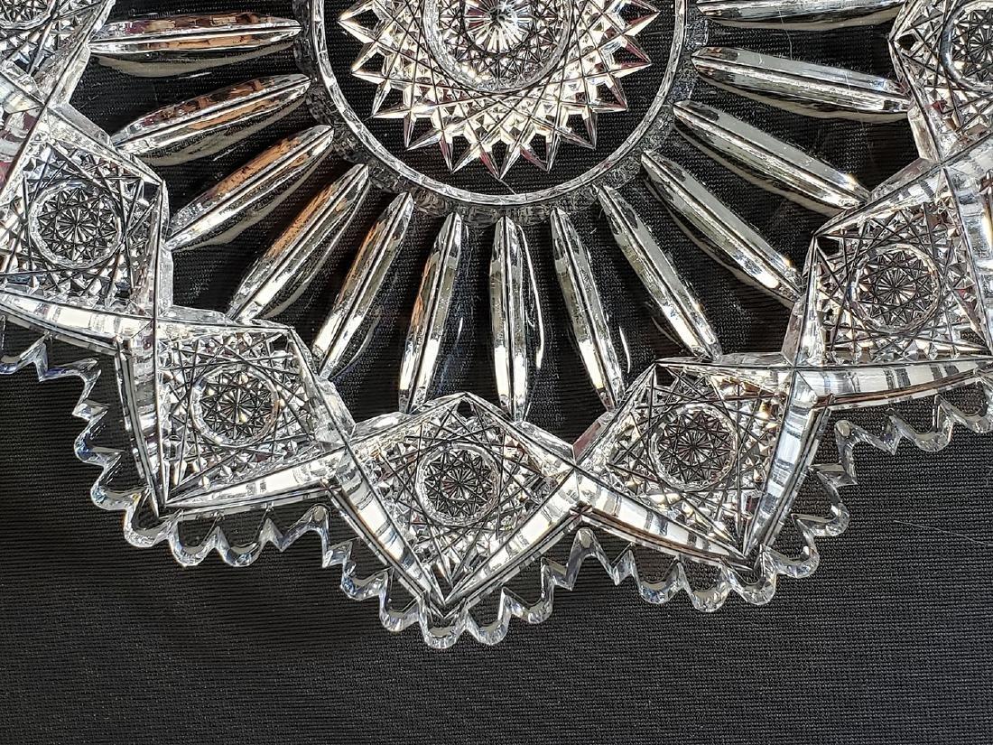 """American Brilliant Period cut glass plate """"Sinclaire"""" - 9"""