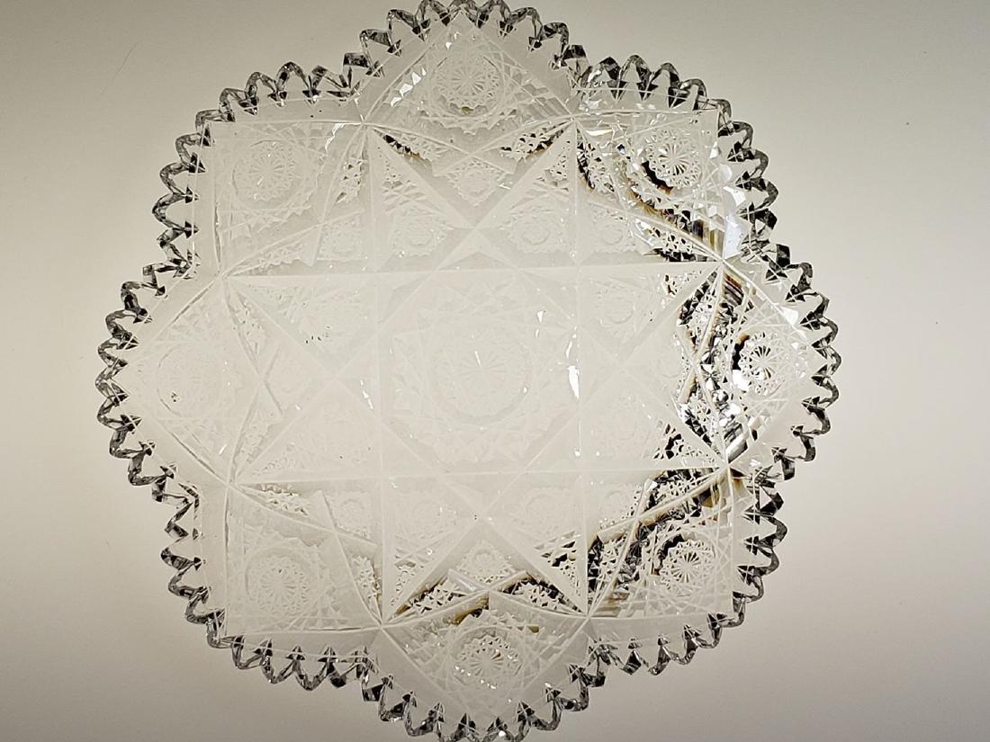 "American Brilliant Period cut glass plate ""Hawkes"" - 10"