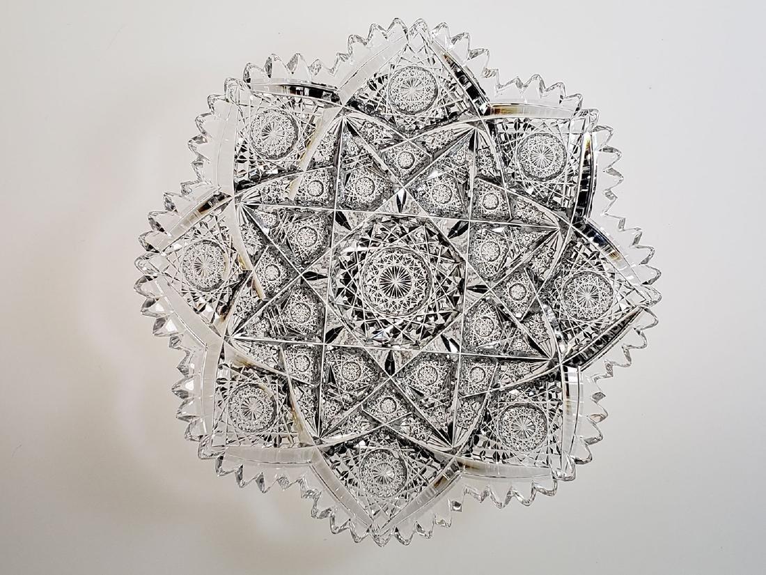 "American Brilliant Period cut glass plate ""Hawkes"" - 2"