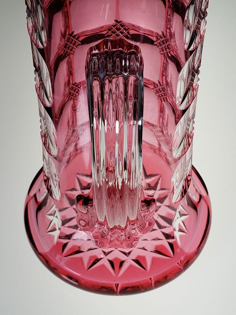 American Brilliant Perd cranberry cut to clear pitcher - 3