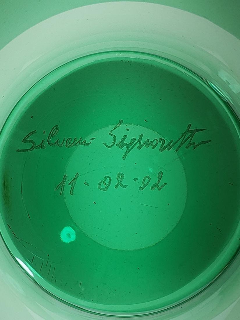 Silvano Signoretto signed Murano art glass vase - 10