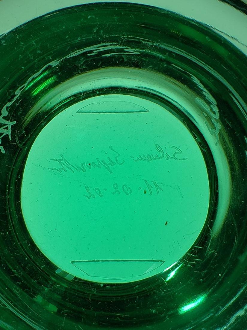 Silvano Signoretto signed Murano art glass vase - 3
