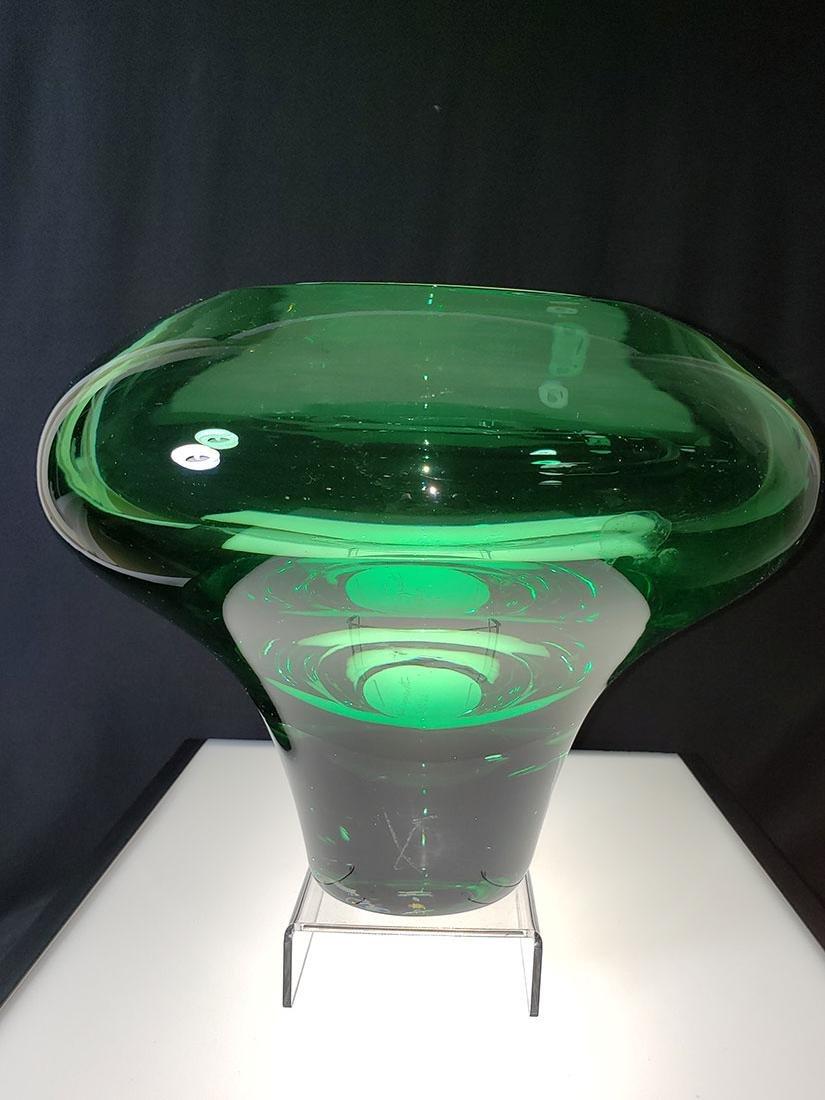 Silvano Signoretto signed Murano art glass vase - 4