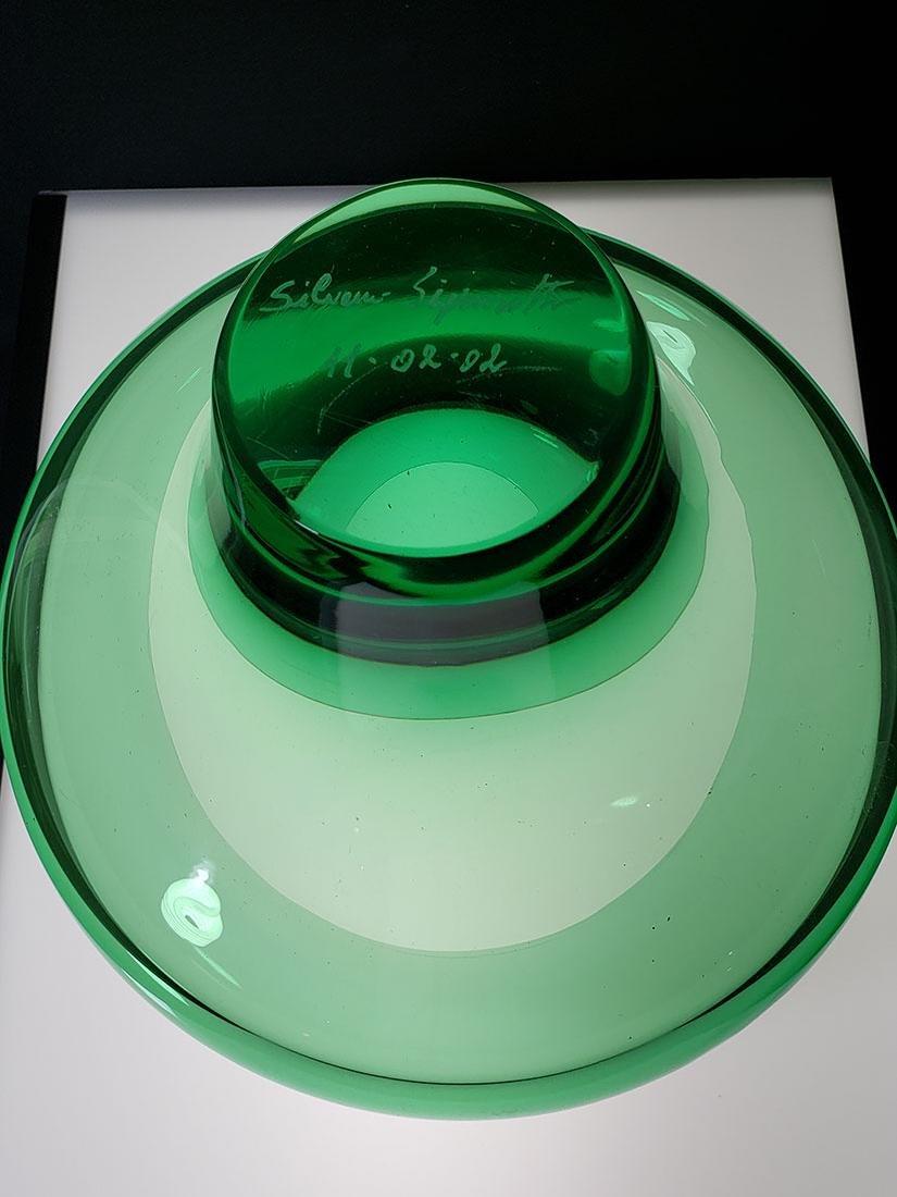 Silvano Signoretto signed Murano art glass vase - 8