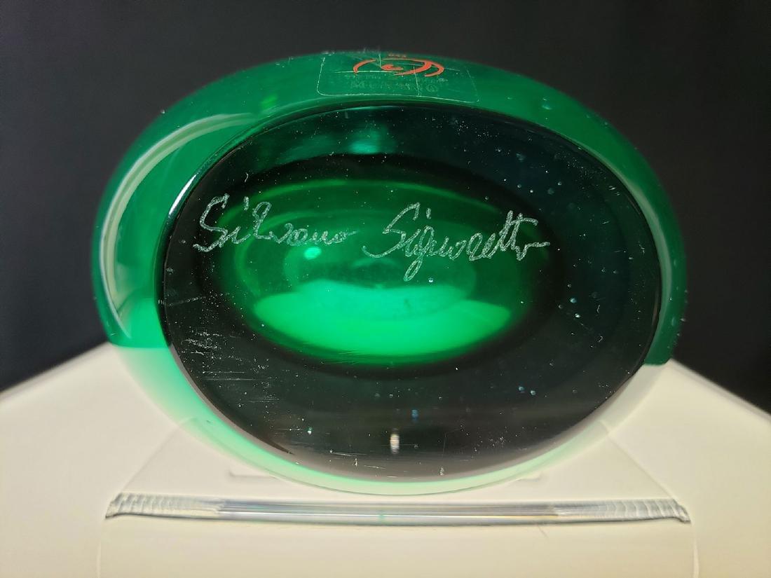 A signed Silvano Signoretto art glass vase - 7