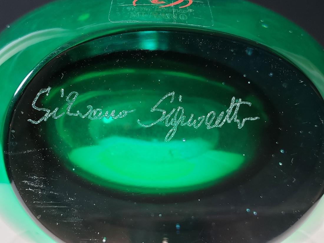 A signed Silvano Signoretto art glass vase - 8