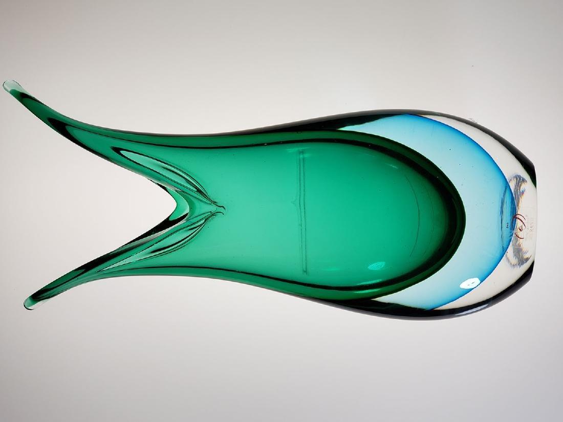 A signed Silvano Signoretto art glass vase - 9