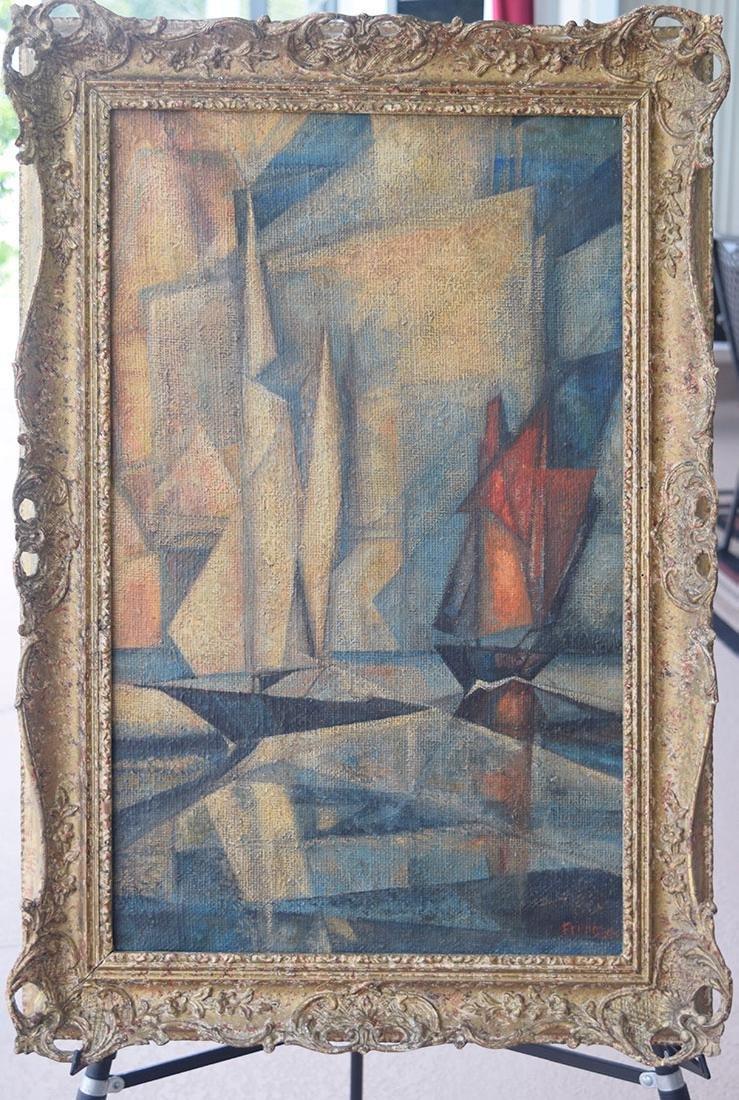 Lyonel Feininger 1871-1956 Cubist Cubism Painting - 10