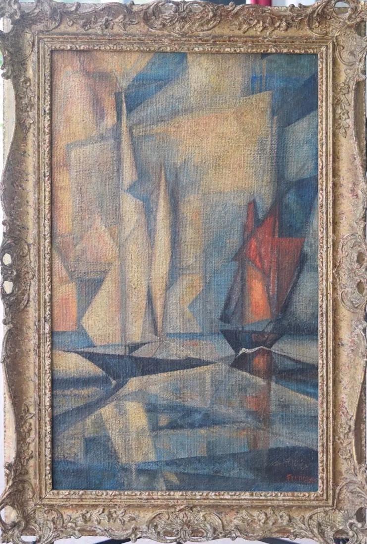 Lyonel Feininger 1871-1956 Cubist Cubism Painting