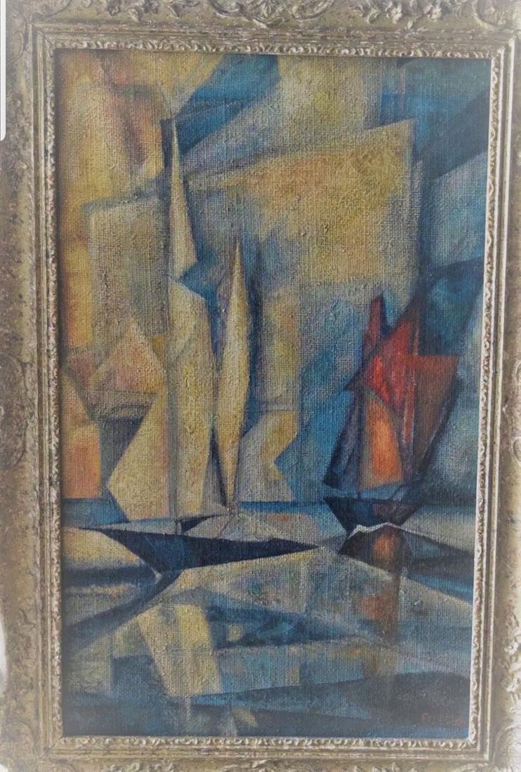 Lyonel Feininger 1871-1956 Cubist Cubism Painting - 2