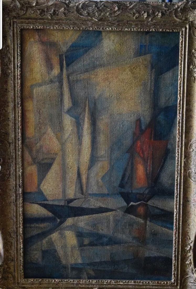 Lyonel Feininger 1871-1956 Cubist Cubism Painting - 3